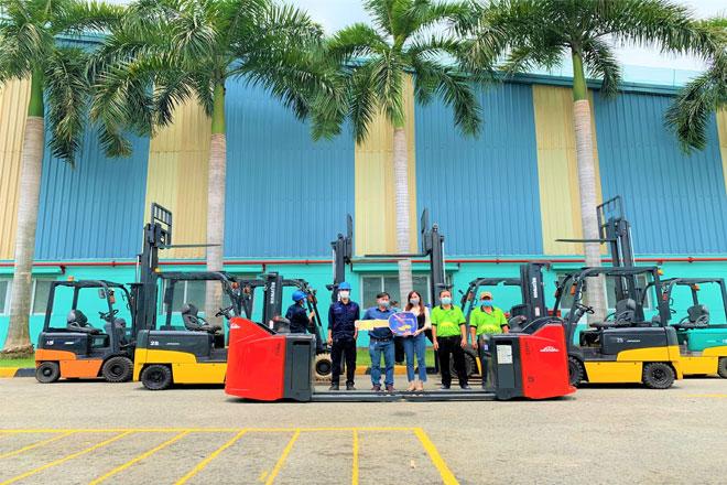 Lễ bàn giao xe nâng tại Tây Ninh của công ty Xe NÂng Việt